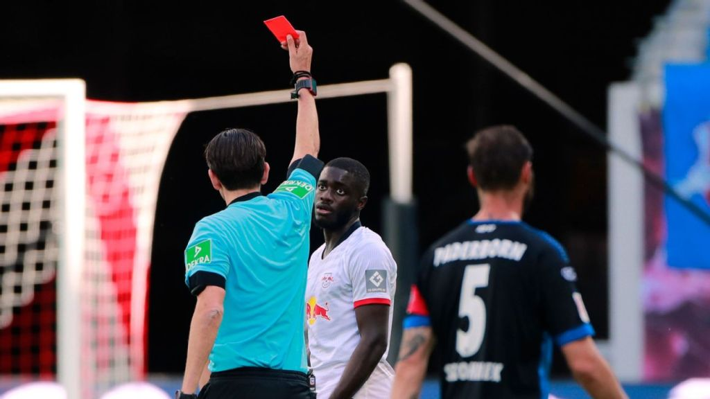Africans Abroad: Dayot Upamecano dismissed as Leipzig draw, Pierre Kunde scores again