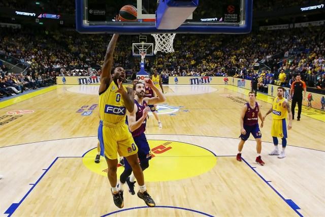 Non c'è due senza tre: Il Maccabi domina un Barcelona Lassa a corrente alternata
