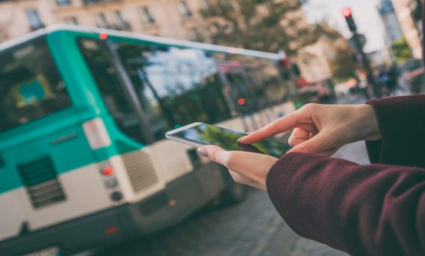 Aplicativo transportes públicos na França