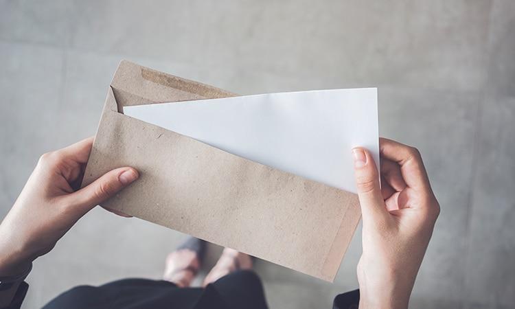 Carta convite para entrar na Espanha envelope