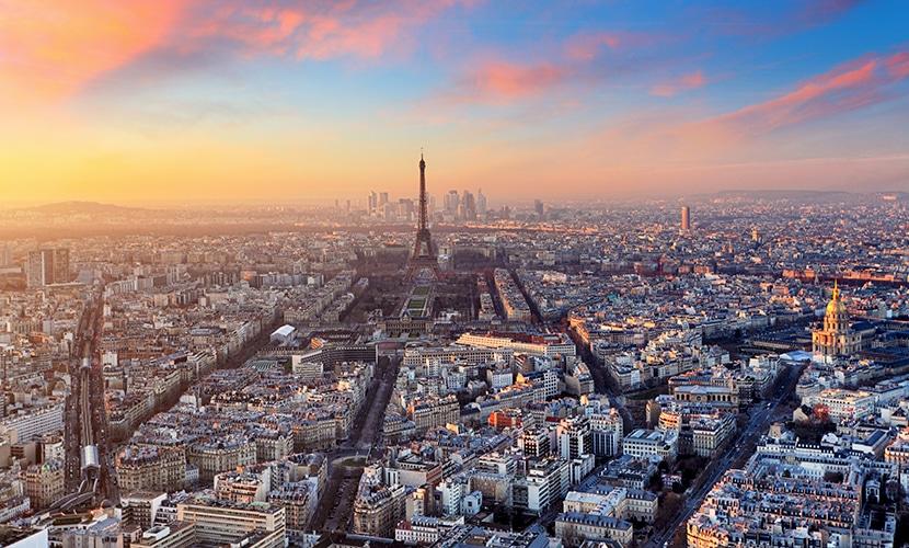 Cidades perto de Paris aérea