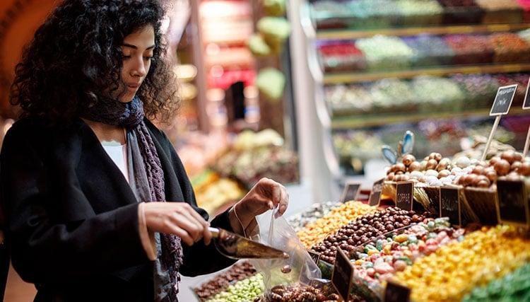 compras no supermercado na França