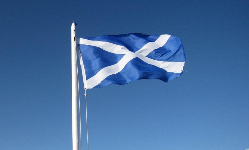 cruz escocesa da bandeira do Reino Unido