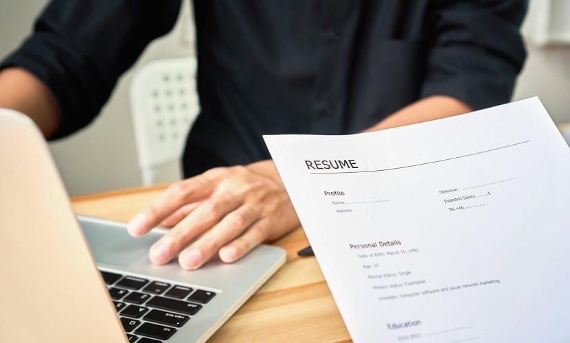 currículo para emprego em Portugal