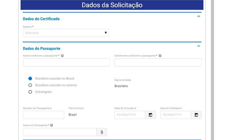 dados para solicitação pb4