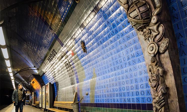 Estação de metrô de lisboa