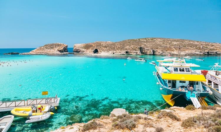 estudar inglês em Malta Lagoa Azul