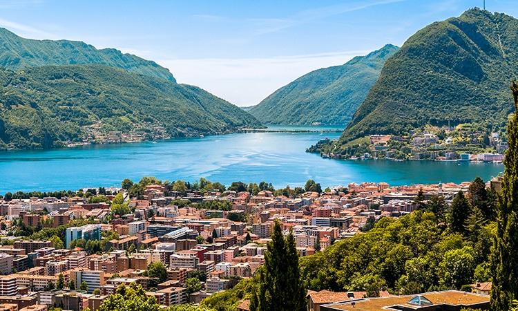 Vista da cidade de Lugano