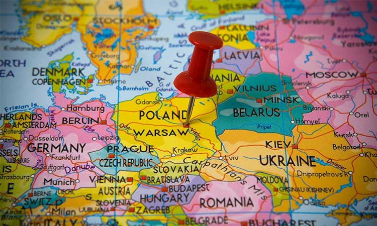 mapa da polonia