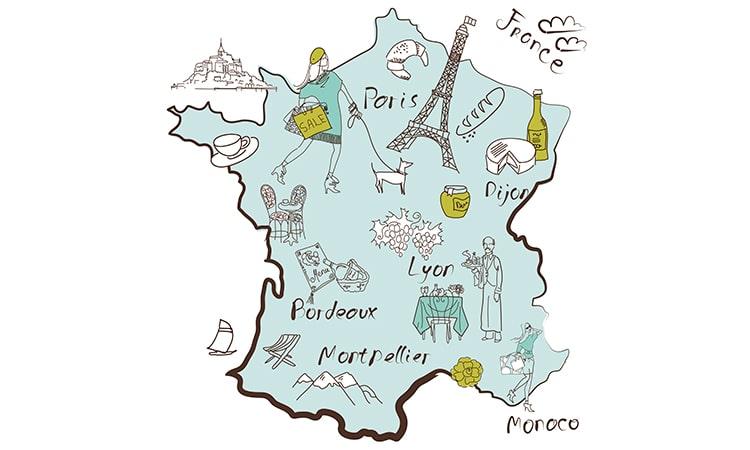 mapa franca turismo