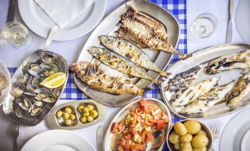 Peixe é um alimento barato em Portugal
