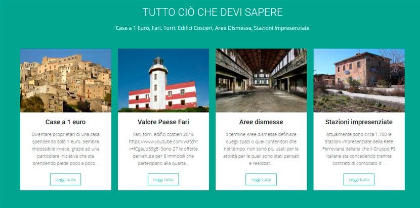 Projeto casas a 1 euro na Itália