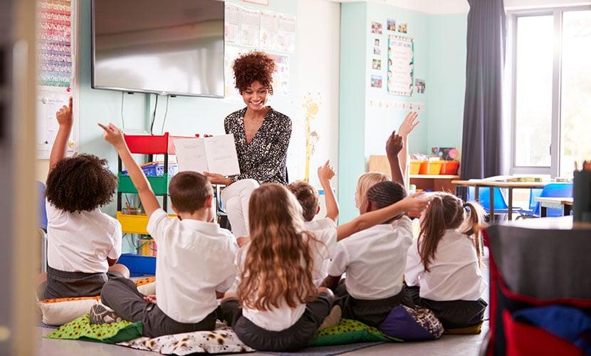 Sala de aula nas escolas na Espanha