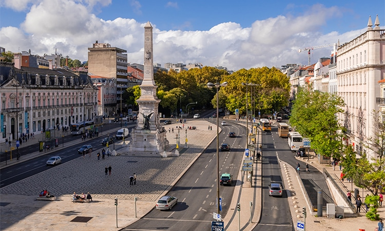 trânsito na cidade de Lisboa