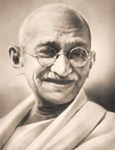Махатма Ганди -индийски адвокат, политик, пацифист, борец за човешка свобода и духовен водач на индийското движение за независимост, което довежда през 1947 г. до края на британското владичество в страната.