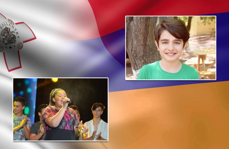 Junior Eurovision 2015 – I rappresentanti di Malta e Armenia