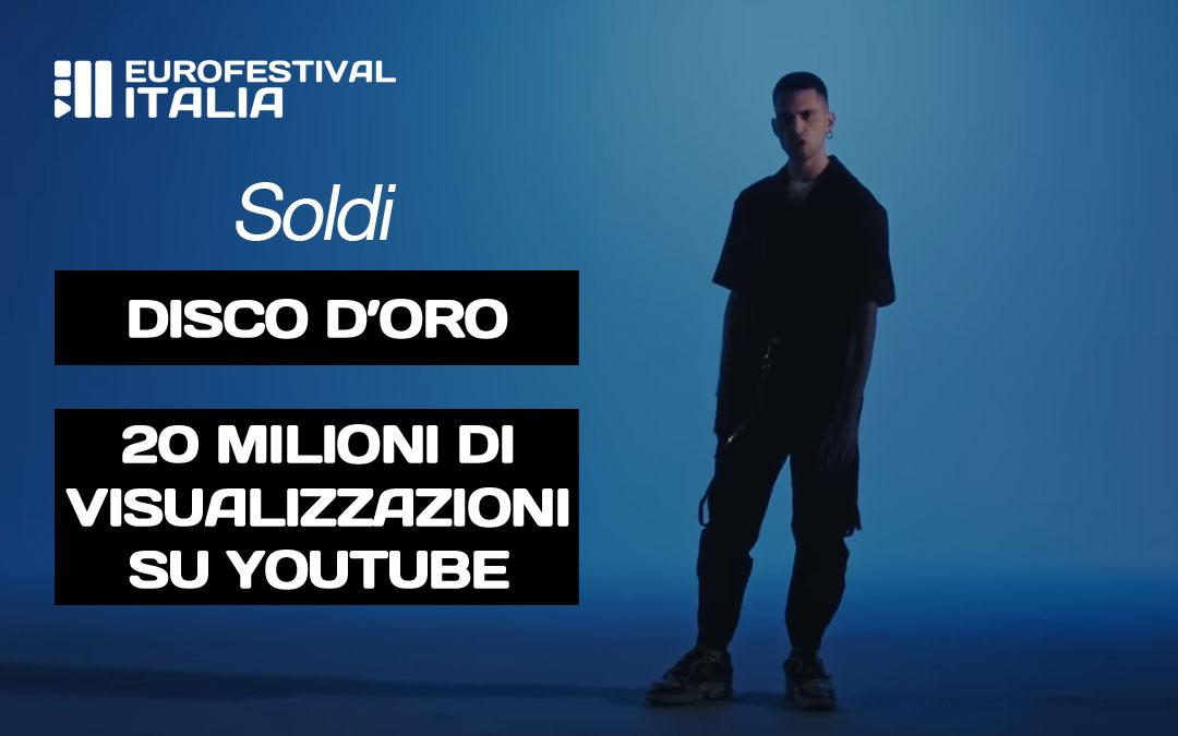 """Mahmood – 20 milioni di visualizzazioni su Youtube per """"Soldi"""" che è certificato disco d'oro!"""