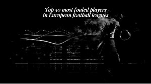 Top 50 most fouled players in European football leagues