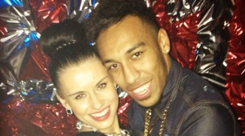 Pierre-Emerick Aubameyang and Alysha Behague