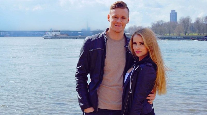 Bernd Leno and Sophie Cristin