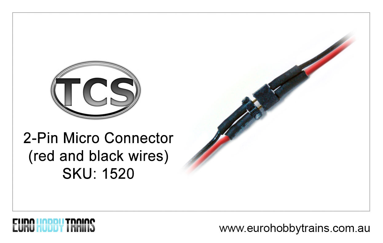 Tcs Dcc 2 Pin Micro Connector Red And Black Wires Sku