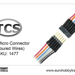 Australian 3 Pin Plug Wiring Diagram Ulna Blank Tcs Dcc 6 Micro Connector Coloured Wires Sku 1477