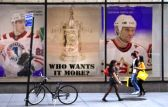 Signs throughout the continent have hockey fans anxious for the start of the Finals.