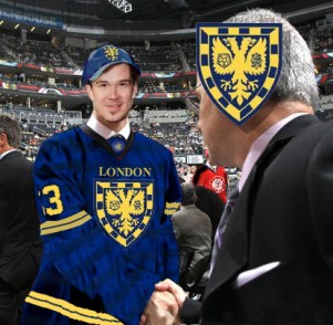 Jimmie Ericsson of Sweden was welcomed to London on draft day.