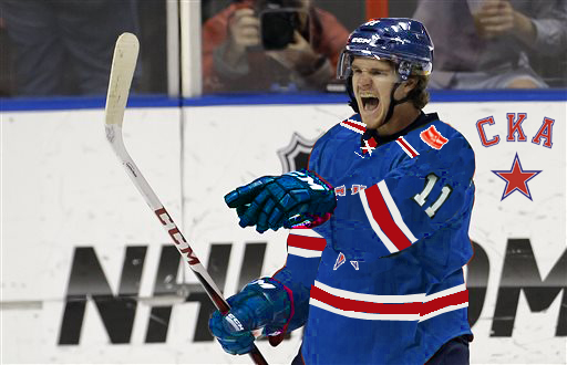 Jonathan Huberdeau, a center for St. Petersburg, scored 47 points in 69 regular season and playoff games during his rookie season.