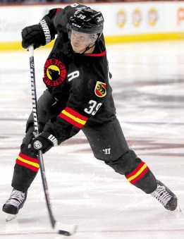Bern defenseman Tobias Enstrom scored 3 goals and had 1 assist Monday against visiting Prague.