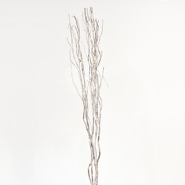 LIGHTED SNOWY BRANCHES, 40 LED, WITH TRANSFORMER, COPPER