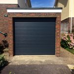 single black garage door