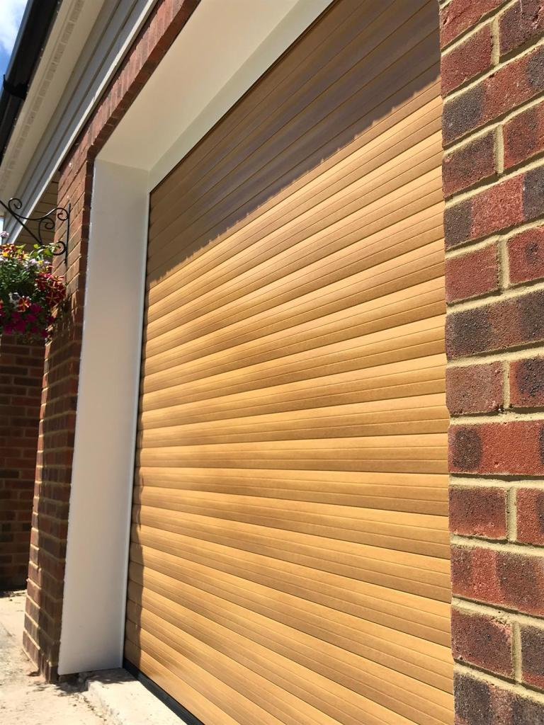 Irish Oak Euroll UK Roller Garage Door