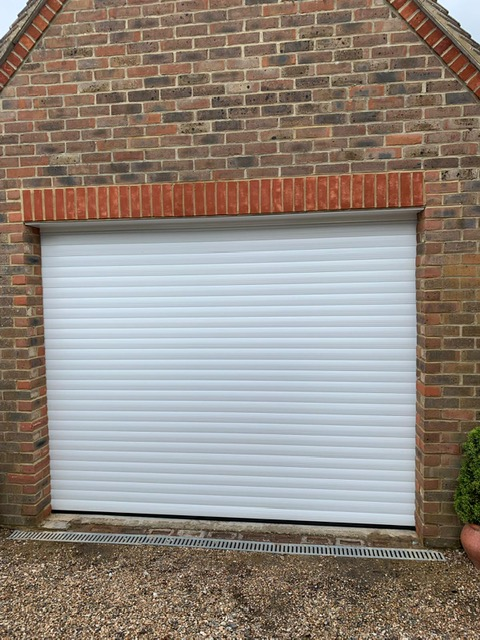 White 55mm Compact Euroll UK Roller Garage Door