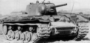 The Soviet heavy tank KV-1