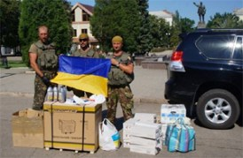 Ukrainian volunteers support the military