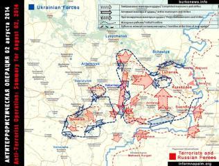 Die Situation in den östlichen Regionen der Ukraine 2. August 2014