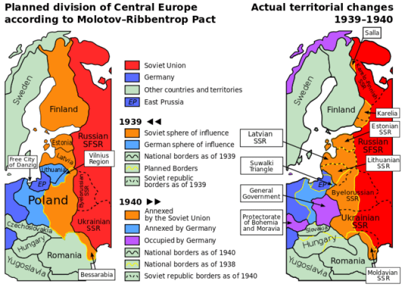 Nazi-Soviet division of Europe