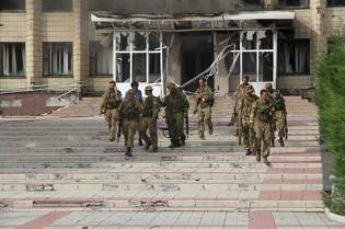 News of Ukraine | STN: ukrainische SOF-Einheiten befreien Dscherschinsk am 22. Juli 2014, Photo 2