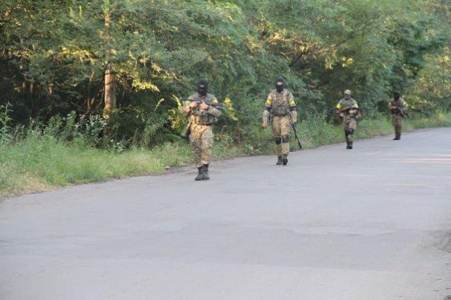 News of Ukraine | STN: ukrainische SOF-Einheiten befreien Dscherschinsk am 22. Juli 2014, Photo 1