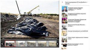 Illustration eines Berichts über den Abschuss des Flugzeugs MH17 in 'Argumenty i Fakty'