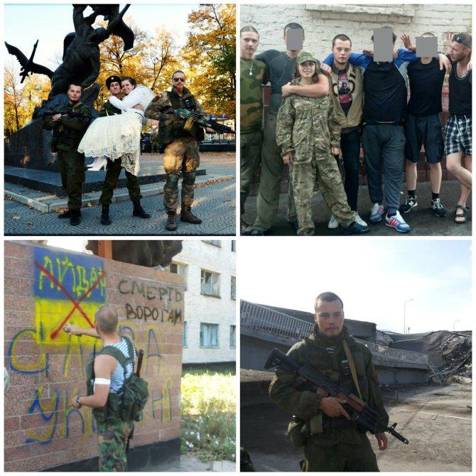 Die Fotos mit Miltschakow wurden in Metallist und in Luhansk aufgenommen.
