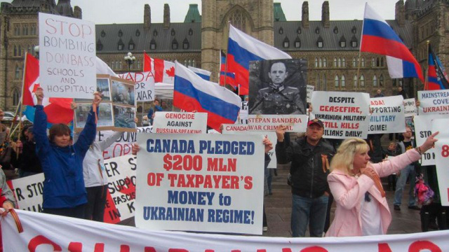 Pro-russische Kundgebung auf dem Parliament Hill, Ottawa (5. Oktober)