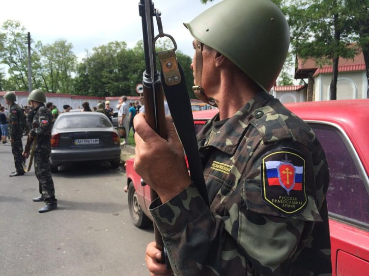 Russian orthodox Army fighter in Donetsk. Photo from http://malorossijanin.livejournal.com