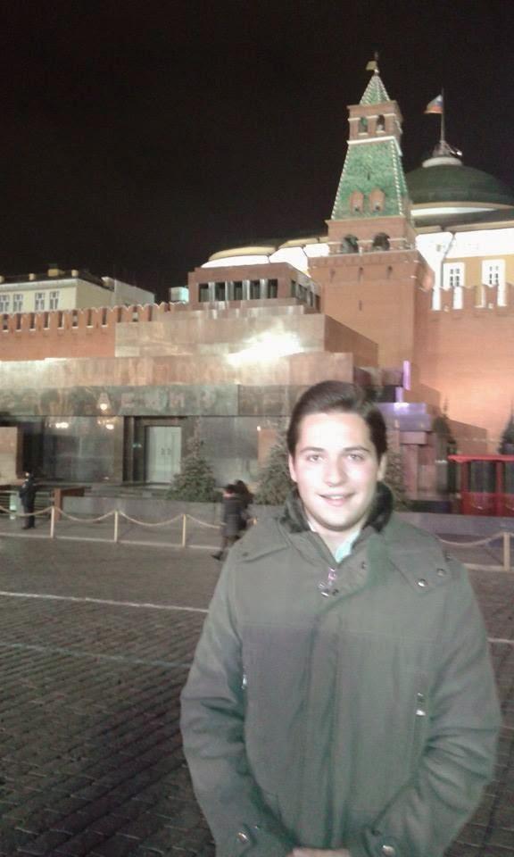 """Alessandro Bertoldi, Mitglied von Forza Italia und """"Beobachter"""" der terroristsichen """"Wahlen"""", Moskau, 31. Oktober 2014"""