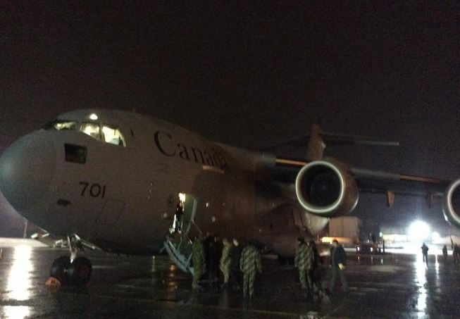 Jet carrying non-lethal military aid arrives to Boryspil