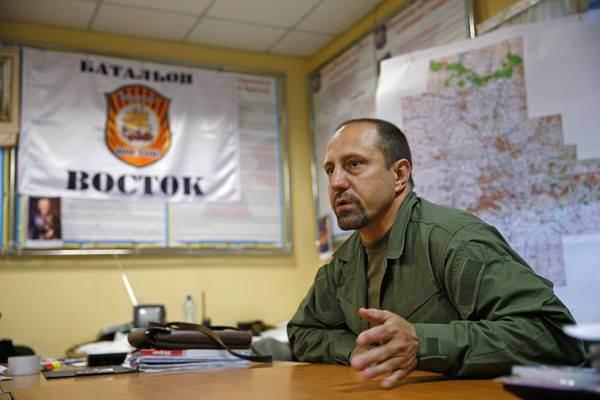 Oleksandr Chodakowskij, Kommandeur des Bataillons Wostok und ehemaliger Angehöriger der Spezialeinheit Alfa.