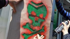 "Ukrainian death symbol: ""little green men"""