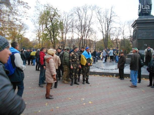 Russian march, to the great surprise of its organizers, turned into a pro-Ukrainian action in Odesa.