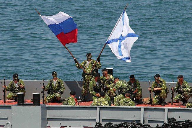 """""""Kleine grüne Männchen"""" der russischen Marine in der Ukraine, 28. Juli 2013"""